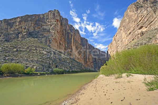 Rivier woestijn canyon rio Stockfoto © wildnerdpix