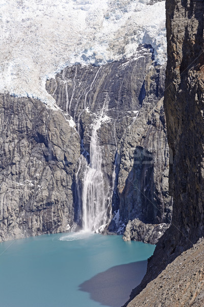Ice Fall into a Glacial Lake Stock photo © wildnerdpix