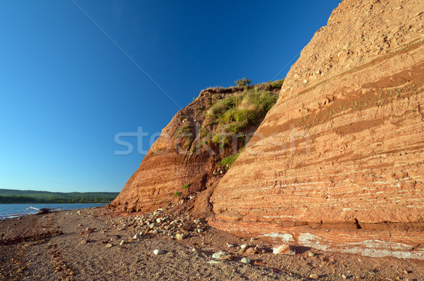 Sandstone cliffs in Nova Scotia Stock photo © wildnerdpix