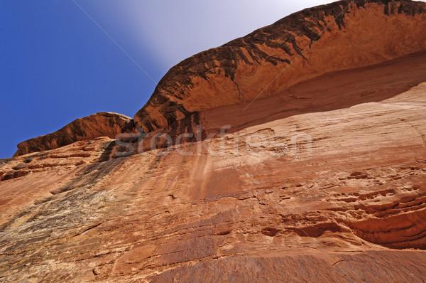 Red Cliff in a desert canyon Stock photo © wildnerdpix