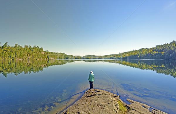 Enjoying the Morning Calm Stock photo © wildnerdpix