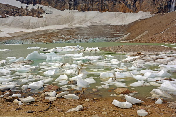 Glacial Pond and Ice in the Mountains Stock photo © wildnerdpix