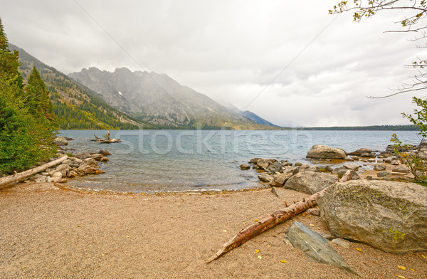 Mountain Lake on a Foggy Fall Morning Stock photo © wildnerdpix