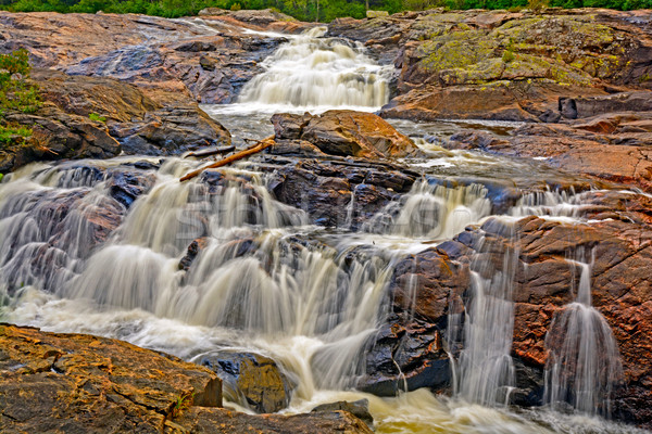 Colorful Cascade on a North Woods Stream Stock photo © wildnerdpix