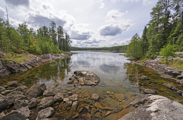 Calm Bay on a Wilderness lake Stock photo © wildnerdpix