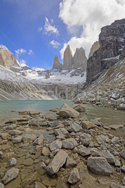 Dramatique vue alpine lac nature distant Photo stock © wildnerdpix