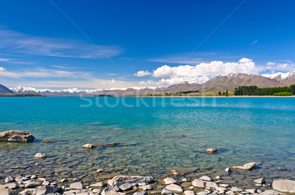 Glacial Lake in a Mountain Valley Stock photo © wildnerdpix