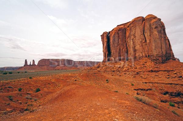 Dramatic Rocks in a Western Valley Stock photo © wildnerdpix