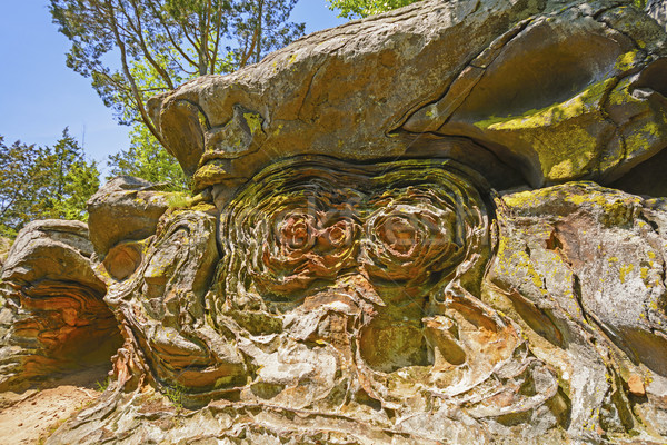 Liesegang rings in a Sandstone outcrop Stock photo © wildnerdpix