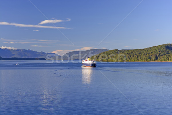Balsa navegação Alasca marinha rodovia Foto stock © wildnerdpix