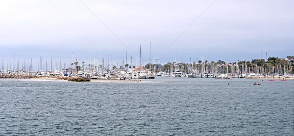 Small Boat Harbor on the coast Stock photo © wildnerdpix