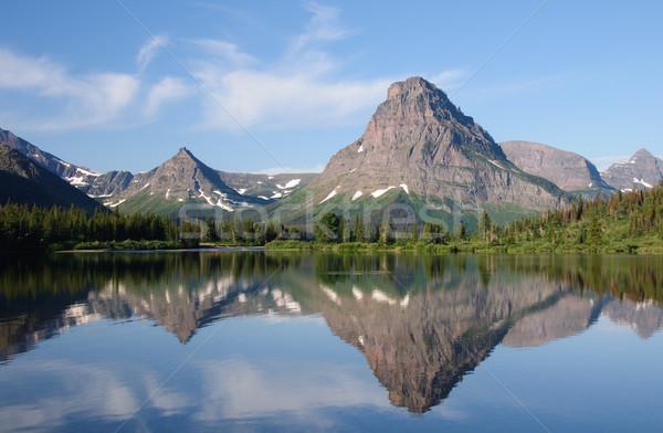 Reflections in an alpine lake Stock photo © wildnerdpix
