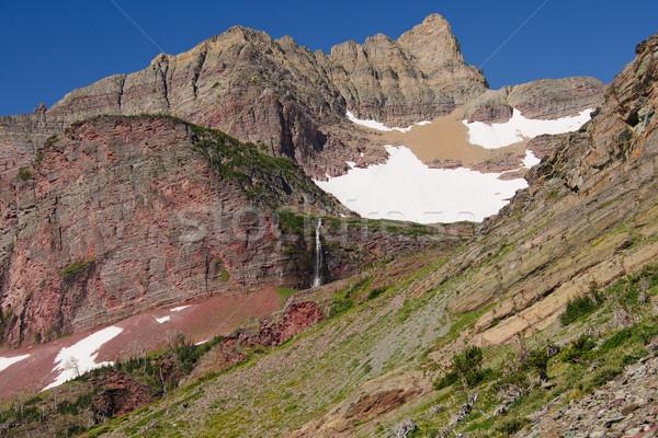 Summer snow on a mountain ridge Stock photo © wildnerdpix