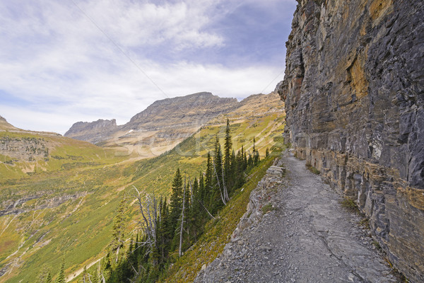 узкий тропе крутой утес стены горные Сток-фото © wildnerdpix