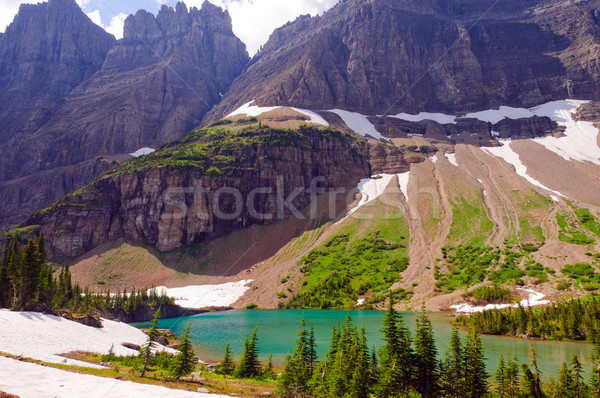 Rugged crags above an Alpine Lake Stock photo © wildnerdpix