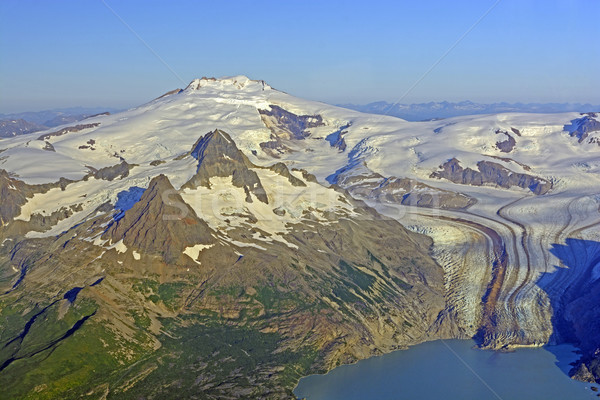 Remote vulcano ghiacciaio Alaska montagna Foto d'archivio © wildnerdpix