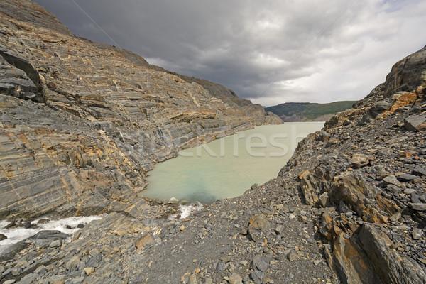 Narrow Inlet on a Glacial Nunatak Stock photo © wildnerdpix