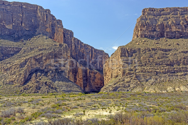 Narrow Canyon in a Desert Escarpment Stock photo © wildnerdpix