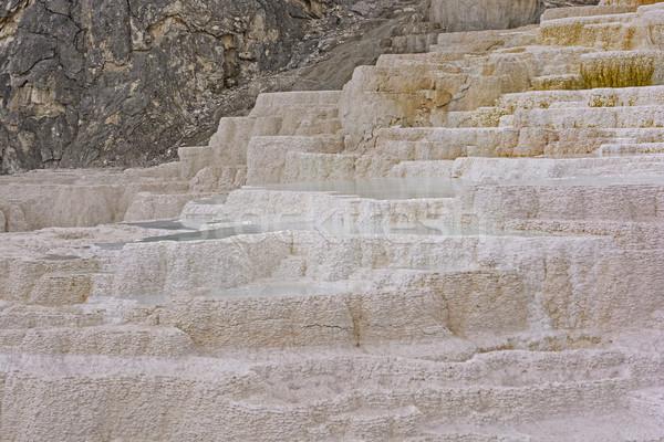 термальная ванна горячей белый Открытый природного Вайоминг Сток-фото © wildnerdpix