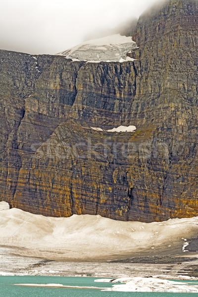 Suspendu glacier brumeux jour gemme au-dessus Photo stock © wildnerdpix