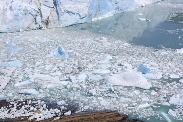 Размышления ледник воды природы гор озеро Сток-фото © wildnerdpix
