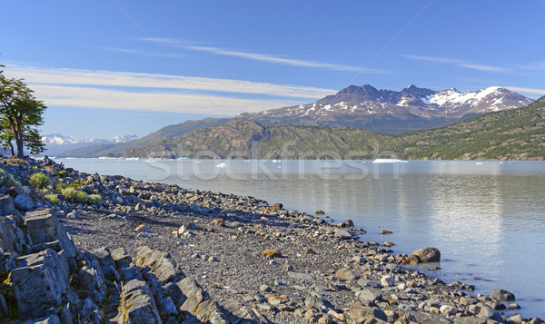 Early Morning Light on a Glacial Lake Stock photo © wildnerdpix