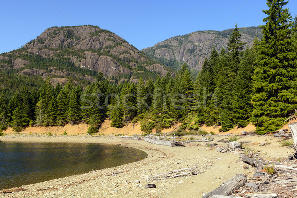 Granite Peaks Above a Placid lake Stock photo © wildnerdpix