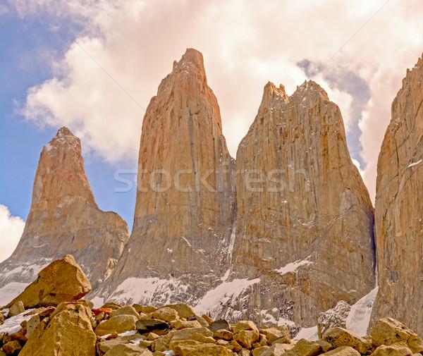 Dramático nuvens parque Chile natureza Foto stock © wildnerdpix