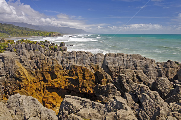 Eroded Ocean Rocks on the Coast Stock photo © wildnerdpix