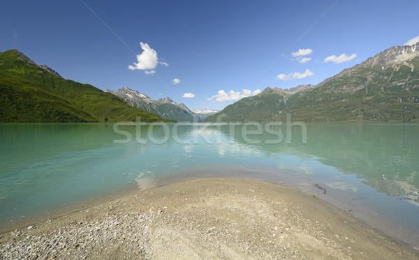 альпийский озеро полумесяц парка Аляска Сток-фото © wildnerdpix