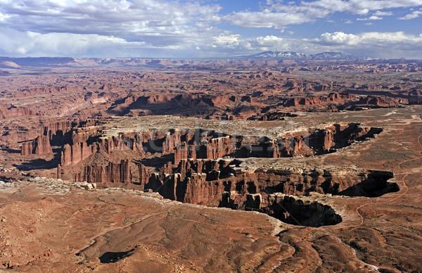 Viharfelhők sivatag park Utah felhők természet Stock fotó © wildnerdpix