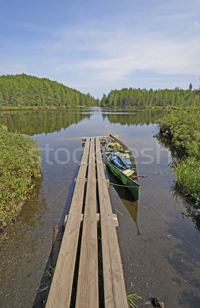 Canoe Dock in the Wilds Stock photo © wildnerdpix