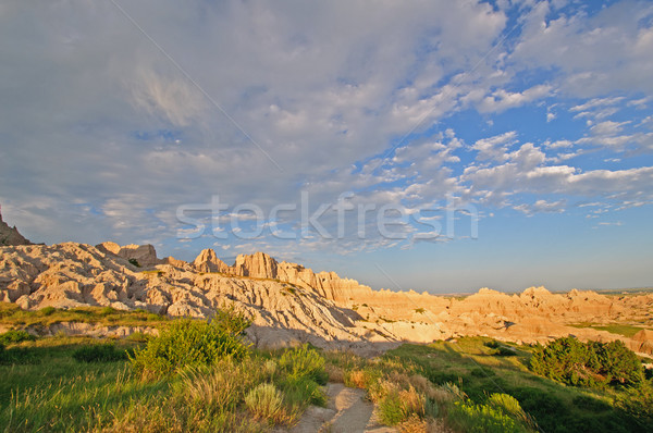 High clouds at sunset Stock photo © wildnerdpix