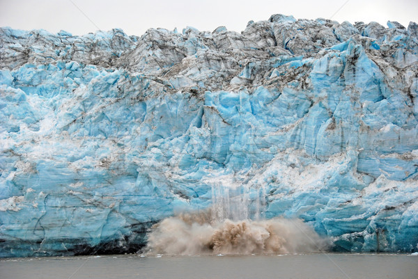 Calving of Ice on a Glacial Face Stock photo © wildnerdpix