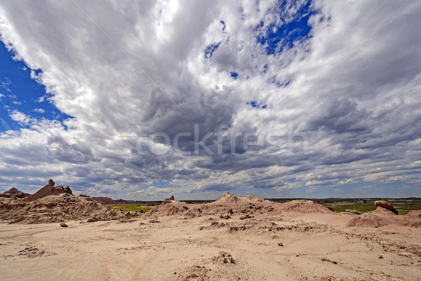 Dramatic Weather Clouds over the Badlands Stock photo © wildnerdpix