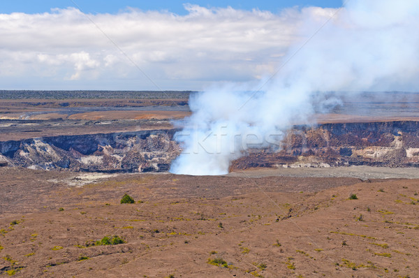 Smoke from an active volcanic crater Stock photo © wildnerdpix
