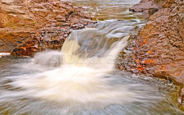 Kaskada kanion mały rzeki Minnesota wodospad Zdjęcia stock © wildnerdpix