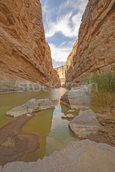 Gölgeler çöl kanyon büyük Stok fotoğraf © wildnerdpix