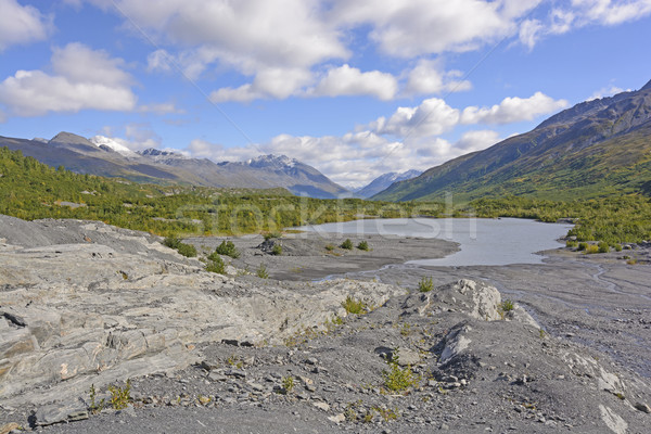 Stock photo: Terminal Lake on a Glacial Plain