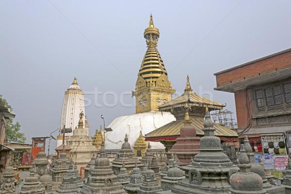 Shrine Complex in Nepal Stock photo © wildnerdpix