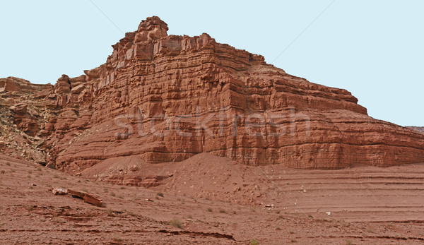 Red Rock Escarpment in the Desert Stock photo © wildnerdpix