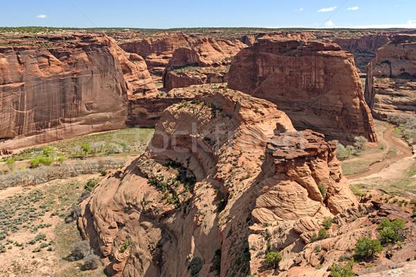 Zandsteen woestijn canyon natuur landschap Rood Stockfoto © wildnerdpix