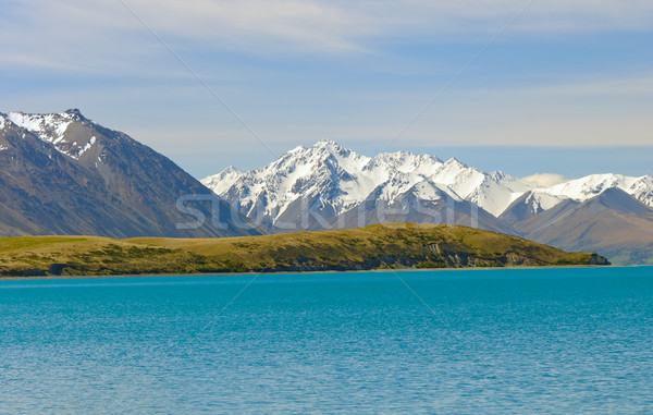 Jagged Mountains in Spring Snow Stock photo © wildnerdpix
