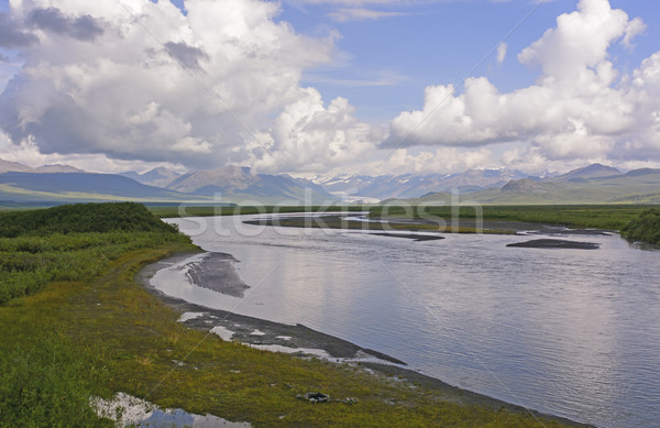 Glacier and Glacial River in the Wilds Stock photo © wildnerdpix