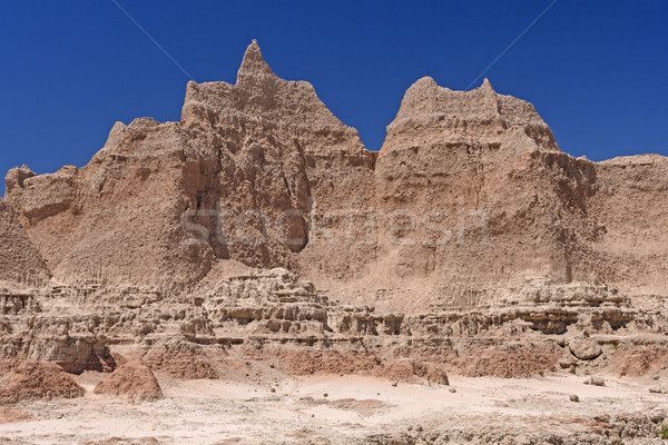 Dramatic Walls in a Barren Landscape Stock photo © wildnerdpix