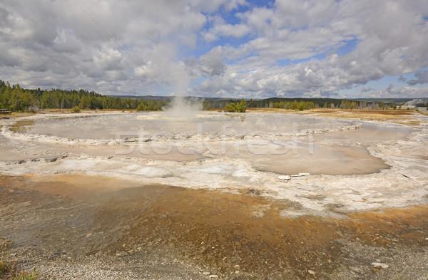 Geiser kegel uitbarsting groot fontein park Stockfoto © wildnerdpix