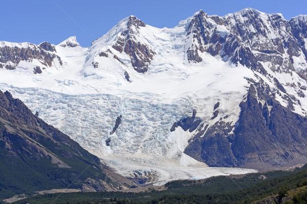 альпийский ледник льда гор удаленных Сток-фото © wildnerdpix