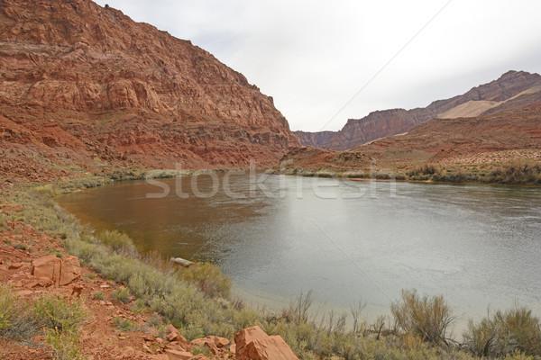 Fiume deserto canyon Colorado traghetto ricreazione Foto d'archivio © wildnerdpix