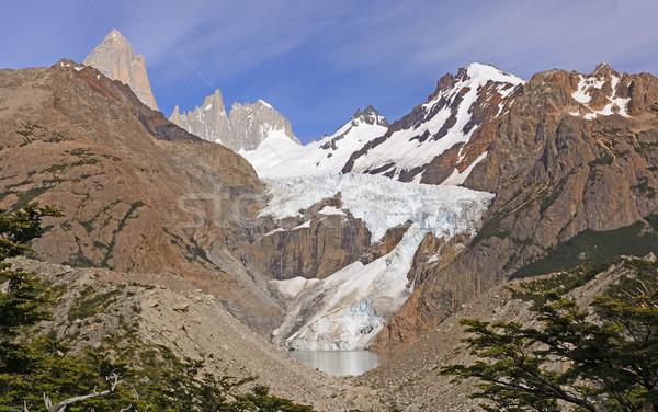 Afstandsbediening berg vallei natuur ijs natuurlijke Stockfoto © wildnerdpix
