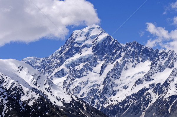 Dramatic Peak against a Blue Sky Stock photo © wildnerdpix